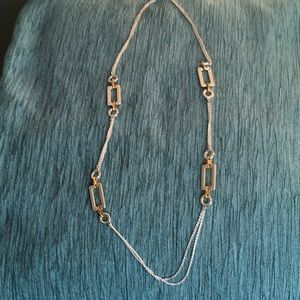 Silver w/Gold Accents Necklace